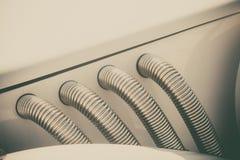 Tubulações de exaustão brilhantes do vintage Imagem de Stock