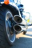 Tubulações de exaustão da motocicleta Fotografia de Stock