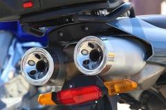 Tubulações de exaustão da motocicleta Imagens de Stock Royalty Free