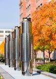 Tubulações de exaustão de aço inoxidável em DoT Washington Fotografia de Stock