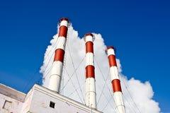 Tubulações de fumo da fábrica Imagem de Stock Royalty Free