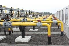 Tubulações de gás Imagem de Stock