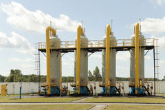 Tubulações de gás Fotografia de Stock Royalty Free