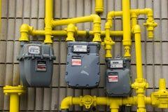 Tubulações de gás Foto de Stock Royalty Free