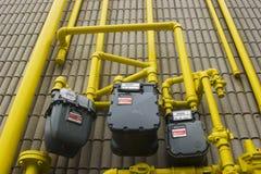 Tubulações de gás Fotos de Stock