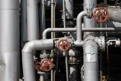 Tubulações de petróleo e de gás Fotografia de Stock