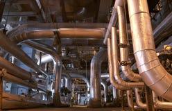 Tubulações de vapor Fotos de Stock Royalty Free
