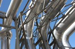 Tubulações de vapor industriais imagens de stock