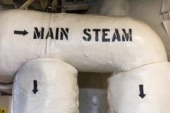 Tubulações de vapor principais Fotos de Stock Royalty Free
