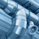 Tubulações de ventilação fotografia de stock
