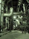 Tubulações dentro da planta de energia Foto de Stock