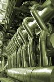 Tubulações dentro da planta de energia Fotografia de Stock