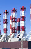 Tubulações do central elétrica Imagem de Stock Royalty Free