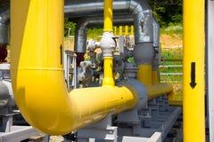 Tubulações do central elétrica Fotografia de Stock Royalty Free