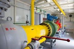 Tubulações do central elétrica Fotos de Stock