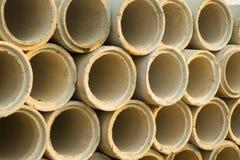 Tubulações do cimento Foto de Stock