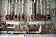 Tubulações do gás e de água Fotos de Stock