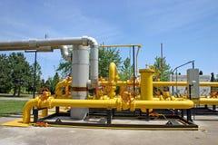 Tubulações do gás e de petróleo Fotografia de Stock Royalty Free