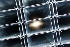 Tubulações do metal fotos de stock