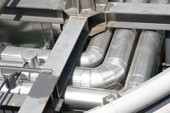 Tubulações do metal Imagem de Stock