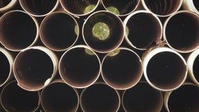 Tubulações do metal que formam um teste padrão dos círculos imagens de stock