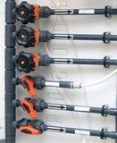 Tubulações do polipropileno do laboratório Fotografia de Stock Royalty Free