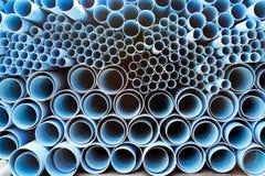 Tubulações do PVC Fotografia de Stock