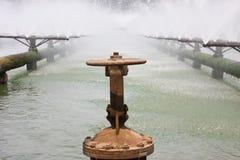 Tubulações do sistema de tratamento de água de esgoto Fotos de Stock Royalty Free