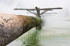 Tubulações do sistema de tratamento de água de esgoto Foto de Stock