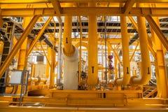 Tubulações e conexões amarelas Foto de Stock Royalty Free