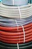 Tubulações e encaixes plásticos para sondar e conexões Fotografia de Stock