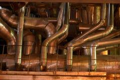 Tubulações em uma central energética Imagem de Stock