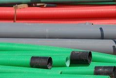 Tubulações flexíveis coloridas Foto de Stock