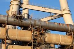 Tubulações industriais Fotografia de Stock