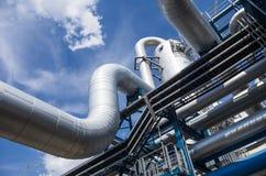 Tubulações industriais Imagem de Stock Royalty Free