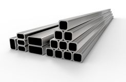 Tubulações novas do metal foto de stock royalty free