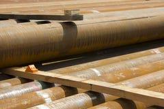 Tubulações para a perfuração de gás natural Imagem de Stock Royalty Free