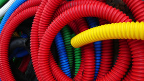 Tubulações plásticas coloridas Fotos de Stock Royalty Free