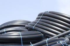 Tubulações plásticas flexíveis novas Fotos de Stock