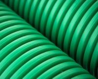 Tubulações plásticas verdes imagens de stock