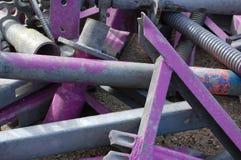 Tubulações roxas da construção Fotos de Stock Royalty Free