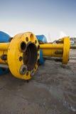 Tubulações subaquáticas do petróleo ou de gás Fotografia de Stock Royalty Free