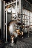 Tubulações & válvulas - central elétrica - Indiana Army Ammunition Depot - Indiana abandonados foto de stock royalty free