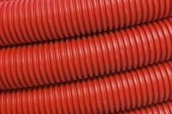 Tubulações vermelhas Fotos de Stock