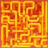 Tubula??es de g?s amarelas ilustração royalty free