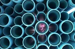 Tubulações 9 de turquesa Foto de Stock