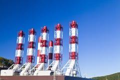 Tubulações do central elétrica Fotos de Stock Royalty Free