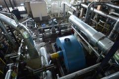Tubulações no central elétrica Fotos de Stock Royalty Free