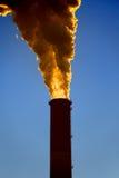 Tubulação da fábrica poluição Imagem de Stock Royalty Free