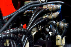 Tubulação e adaptador para a máquina do motor Imagem de Stock Royalty Free